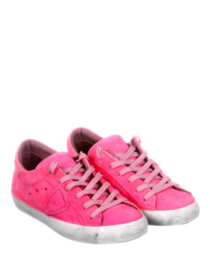 Philippe Model: trainers online - Paris washed suede sneakers