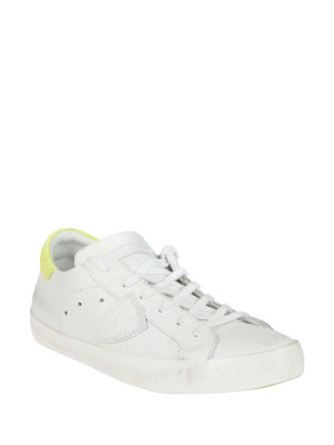 Philippe Model: trainers online - Paris white yellow leather sneakers