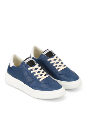 Philippe Model: trainers online - Temple logo detail leather sneakers