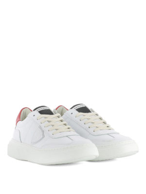 Philippe Model: trainers online - Temple white and red sneakers