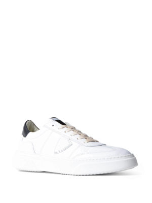 Philippe Model: trainers online - Temple white leather sneakers