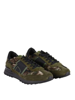Philippe Model: trainers online - Toujour camu suede sneakers