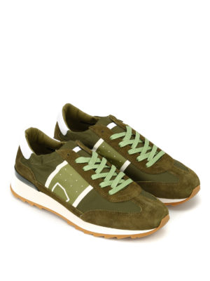 Philippe Model: trainers online - Toujours Basic green nylon sneakers