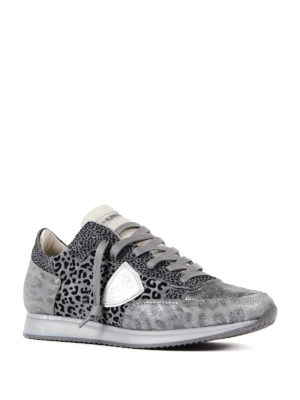 Philippe Model: trainers online - Tropez animal print sneakers