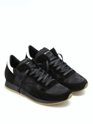 Philippe Model: trainers online - Tropez black camu sneakers