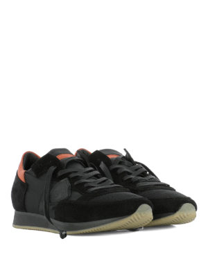 Philippe Model: trainers online - Tropez black nylon & suede sneakers