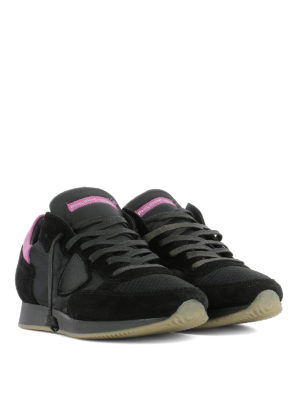 Philippe Model: trainers online - Tropez black suede & nylon sneakers