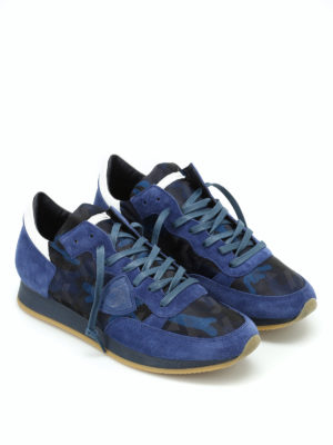 Philippe Model: trainers online - Tropez blue camu sneakers