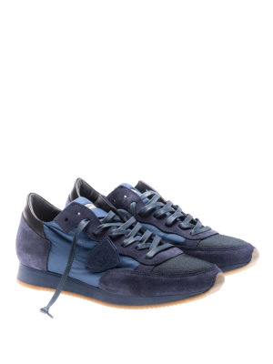 Philippe Model: trainers online - Tropez blue nylon suede sneakers