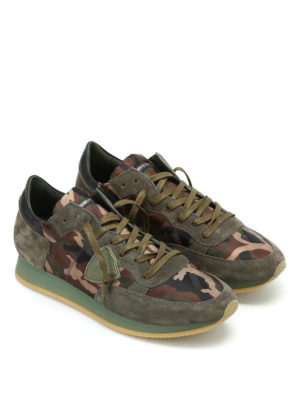 Philippe Model: trainers online - Tropez dark green camu sneakers