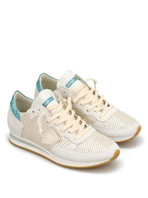 Philippe Model: trainers online - Tropez drilled leather sneakers