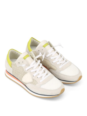 Philippe Model: trainers online - Tropez drilled suede sneakers
