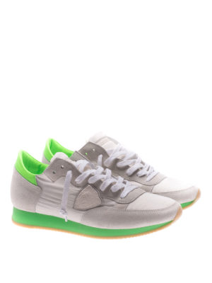 Philippe Model: trainers online - Tropez fluo green detail sneakers