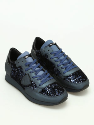 Philippe Model: trainers online - Tropez glitter detailed sneakers