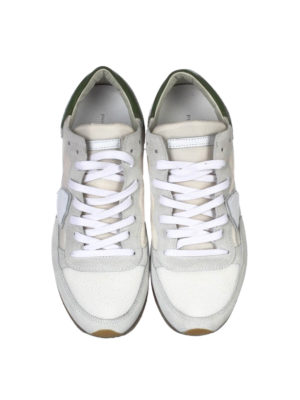 Philippe Model: trainers online - Tropez green detail sneakers