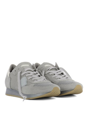 Philippe Model: trainers online - Tropez grey nylon & suede sneakers