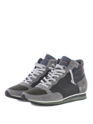 Philippe Model: trainers online - Tropez High World grey sneakers