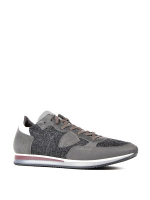 Philippe Model: trainers online - Tropez leather and felt sneakers