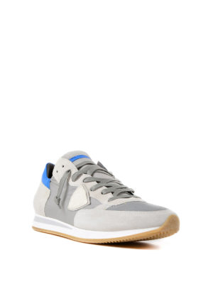 Philippe Model: trainers online - Tropez light blue detail sneakers