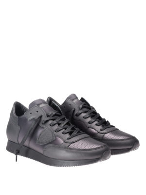 Philippe Model: trainers online - Tropez metallic leather sneakers