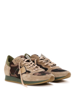 Philippe Model: trainers online - Tropez mid top camouflage sneakers