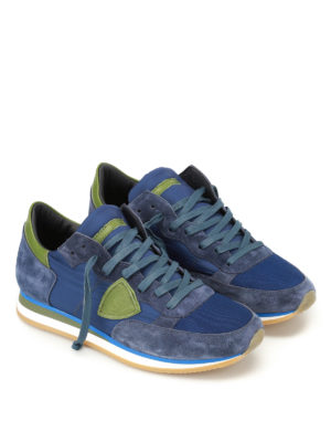 Philippe Model: trainers online - Tropez Mondial bleu vert sneakers