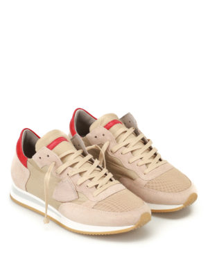Philippe Model: trainers online - Tropez Mondial grey suede sneakers