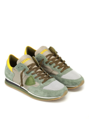 Philippe Model: trainers online - Tropez Mondial mud green sneakers