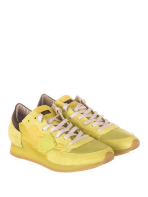 Philippe Model: trainers online - Tropez nylon and suede sneakers