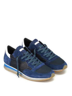 Philippe Model: trainers online - Tropez Perfore blue suede sneakers
