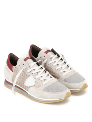 Philippe Model: trainers online - Tropez Perfore grey suede sneakers