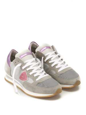 Philippe Model: trainers online - Tropez pink detail sneakers