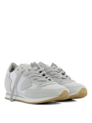Philippe Model: trainers online - Tropez Studs Blanc leather sneakers