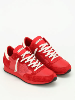 Philippe Model: trainers online - Tropez suede and leather sneakers