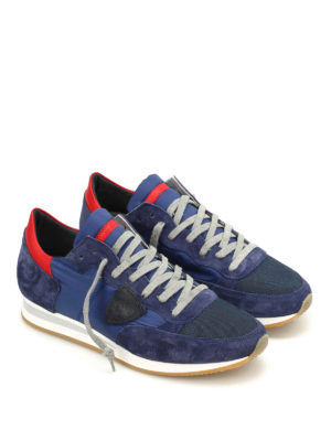 Philippe Model: trainers online - Tropez suede and nylon sneakers