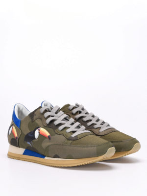 Philippe Model: trainers online - Tropez toucan patches sneakers