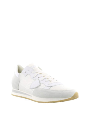 Philippe Model: trainers online - Tropez white suede sneakers