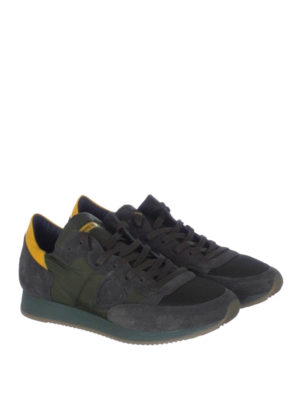 Philippe Model: trainers online - Tropez yellow detail sneakers