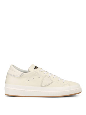Philippe Model: trainers - Opera ivory leather sneakers