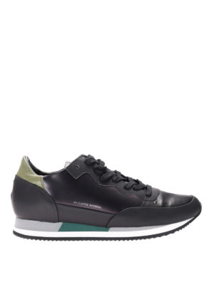 Philippe Model: trainers - Paradis black leather sneakers