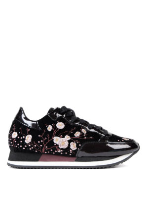 Philippe Model: trainers - Paradis embroidered velvet sneakers