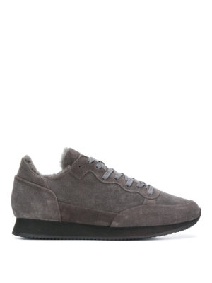 PHILIPPE MODEL: sneakers - Sneaker Paradis in suede e eco pelliccia