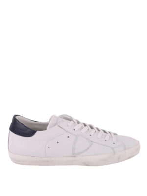 PHILIPPE MODEL: sneakers - Sneaker Paris Basic in pelle bianca e blu
