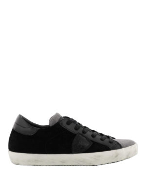 PHILIPPE MODEL: sneakers - Sneaker Paris basse in suede grigio e nero