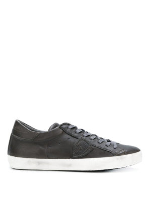 PHILIPPE MODEL: sneakers - Sneaker Paris in pelle nera lucida
