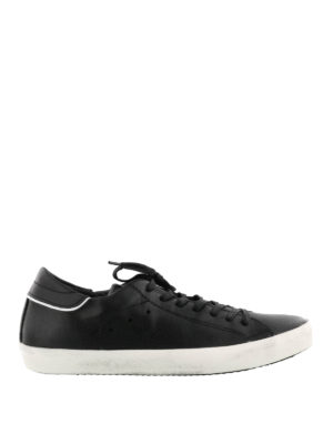 Philippe Model: trainers - Paris black leather sneakers
