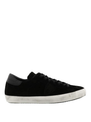 PHILIPPE MODEL: sneakers - Sneaker Paris basse in camoscio nero