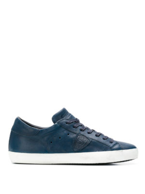 PHILIPPE MODEL: sneakers - Sneaker Paris in pelle lucida bluette