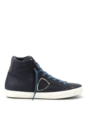 Philippe Model: trainers - Paris calf leather hi-top sneakers