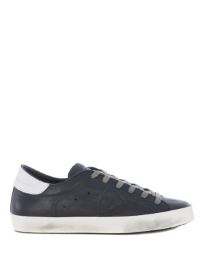 PHILIPPE MODEL: sneakers - Sneaker Paris in pelle blu scuro